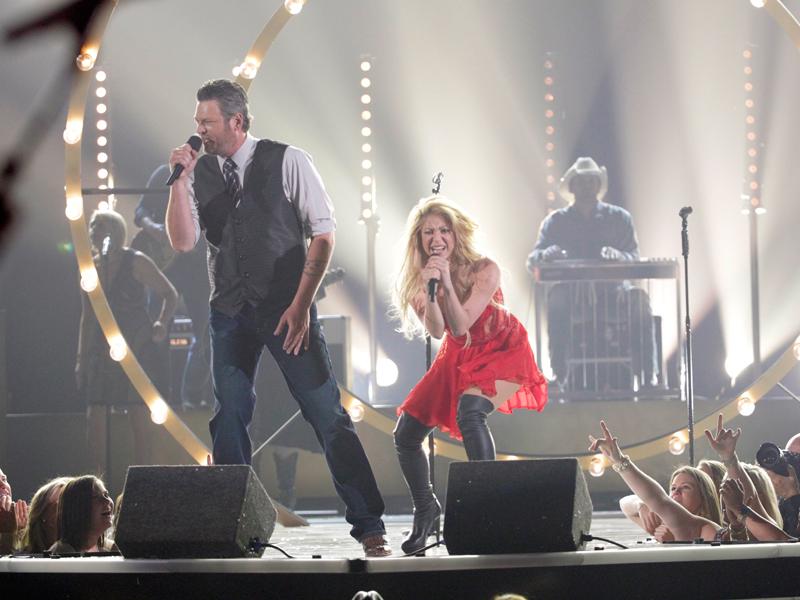 Blake Shelton and Shakira Perform - 49th ACM Awards