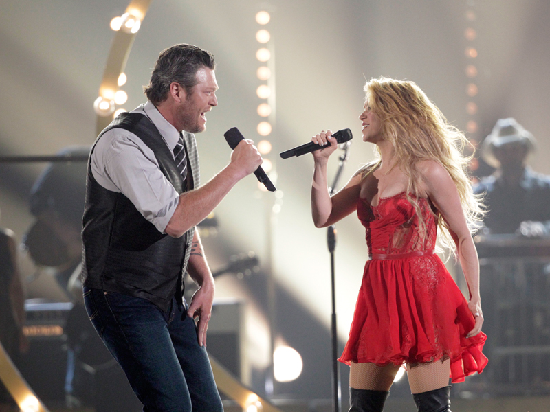 Blake Shelton and Shakira Perform - 49th ACM Awards