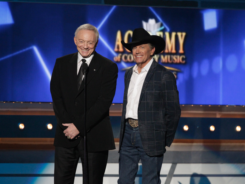 Jerry Jones and George Strait - 49th ACM Awards