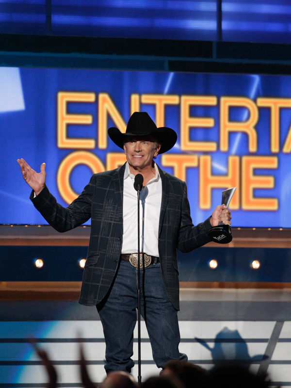 Entertainer of the Year Winner, George Strait - 49th ACM Awards