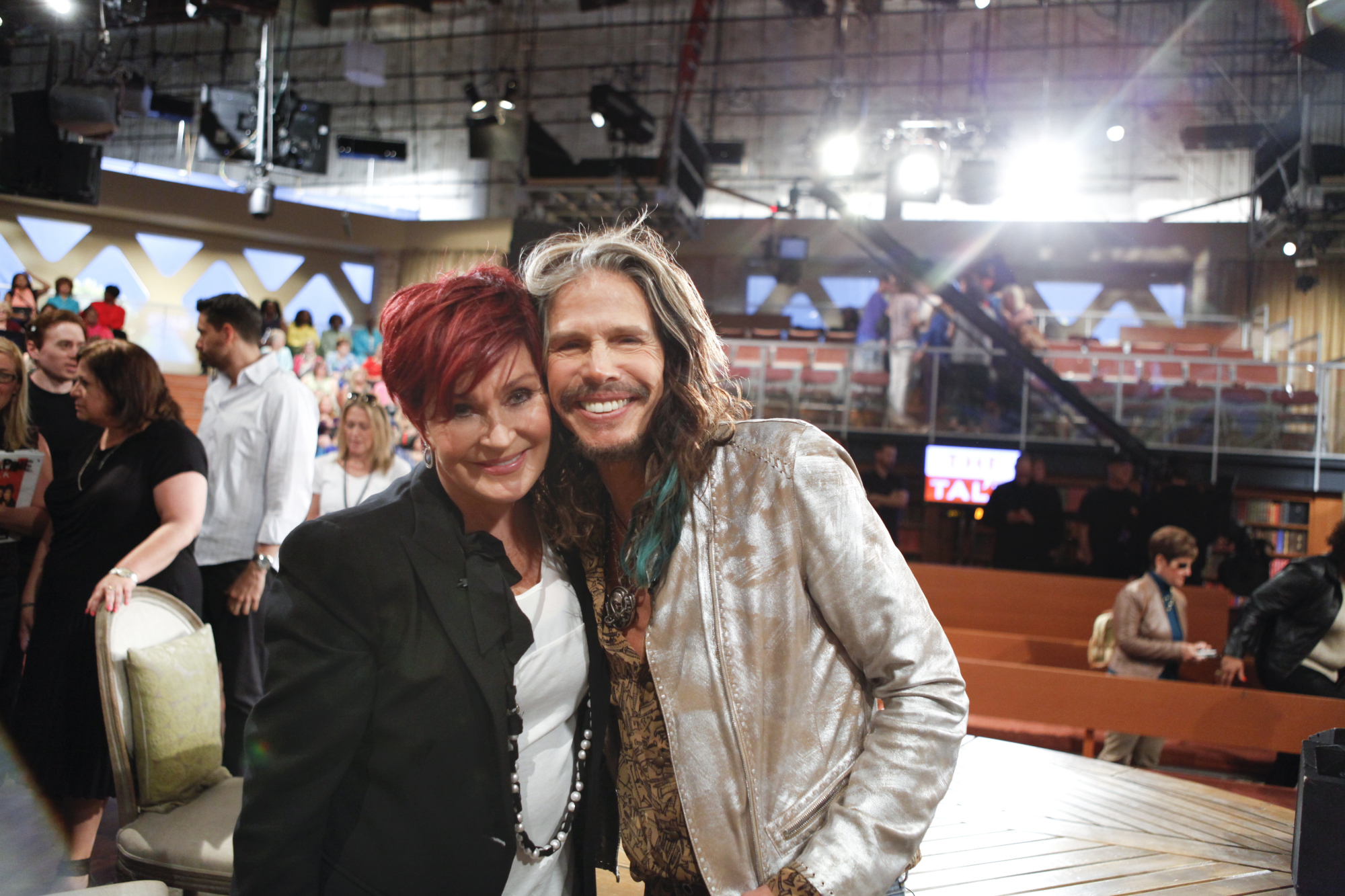 Sharon and Steven Tyler