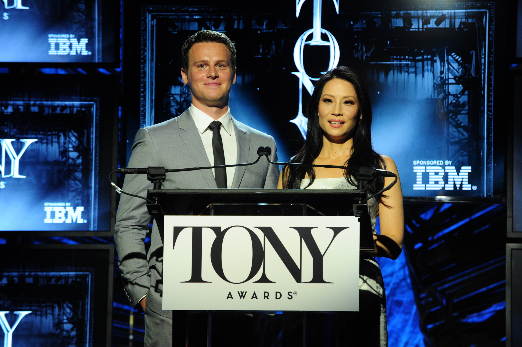 Jonathan Groff and Lucy Liu