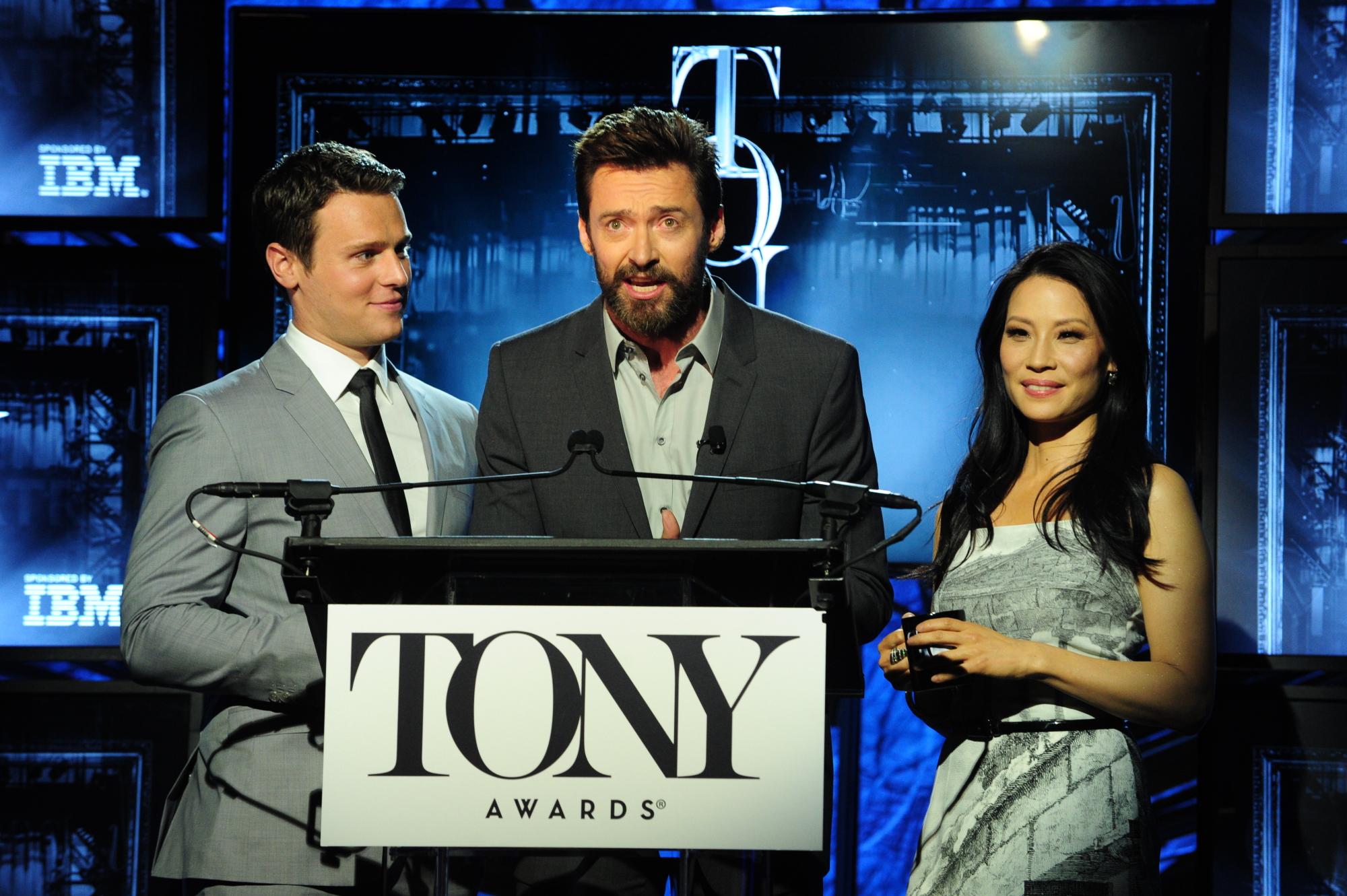 Jonathan Groff, Hugh Jackman and Lucy Liu