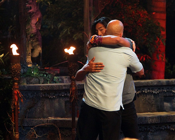 Tony and Woo Hug After Jeff Reveals Tony is the Winner