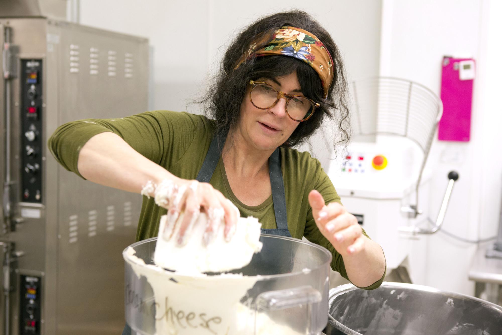 Mixing cupcakes