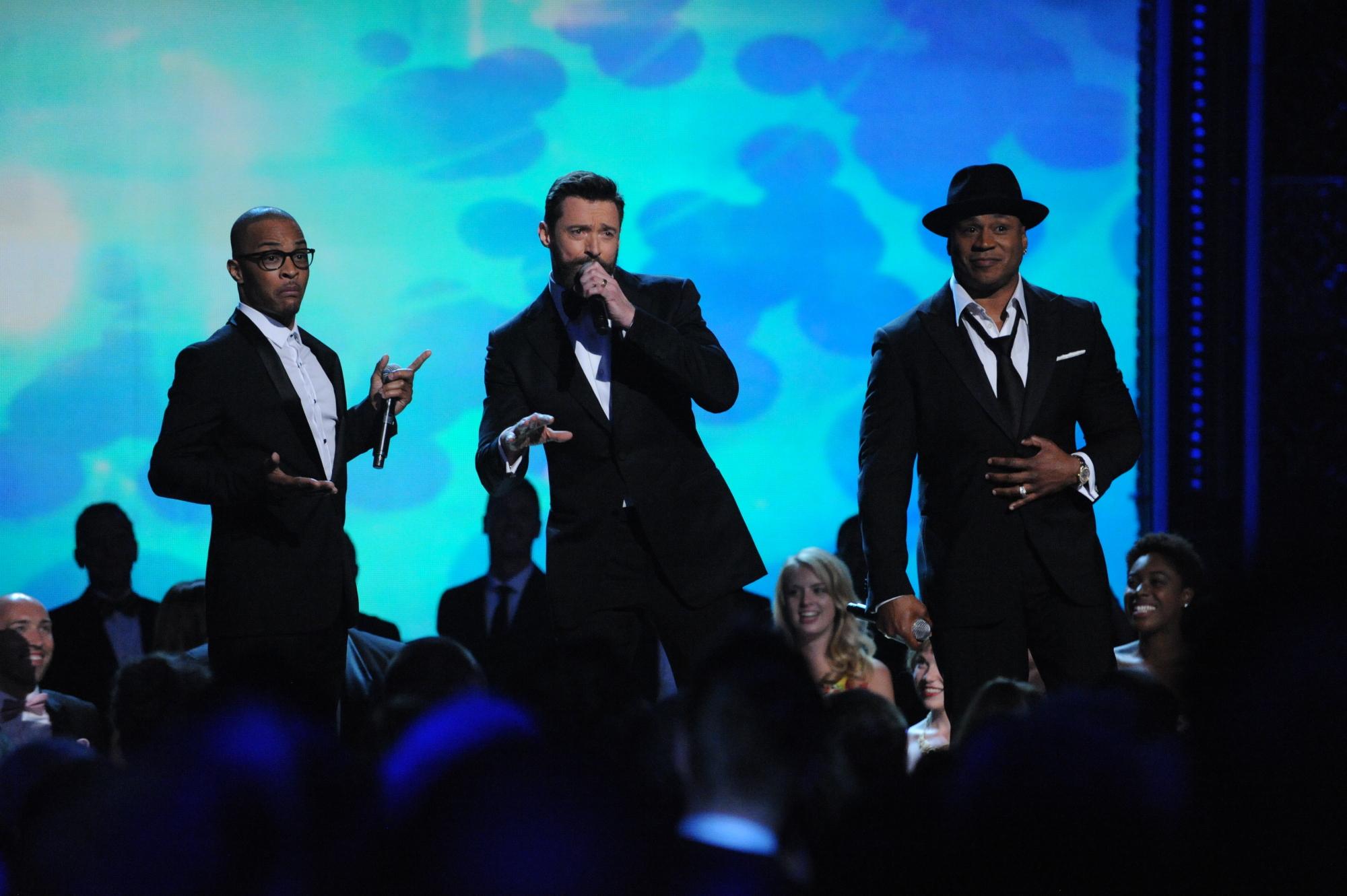 T.I., Hugh Jackman, and LL Cool J - 2014 Tony Awards