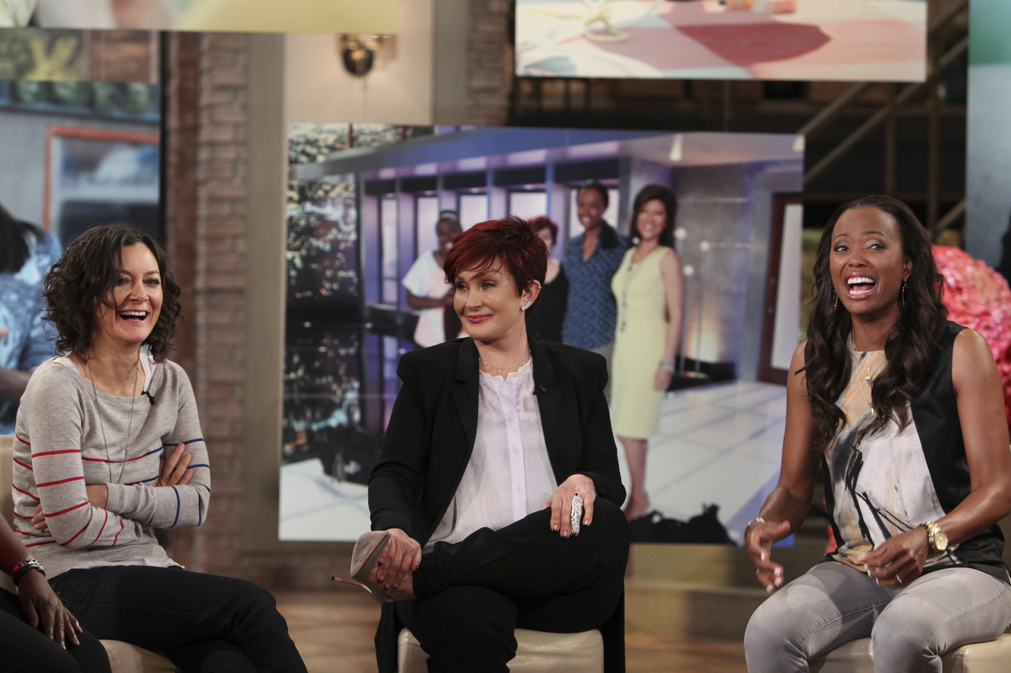 Sara Gilbert, Sharon Osbourne and Aisha Tyler