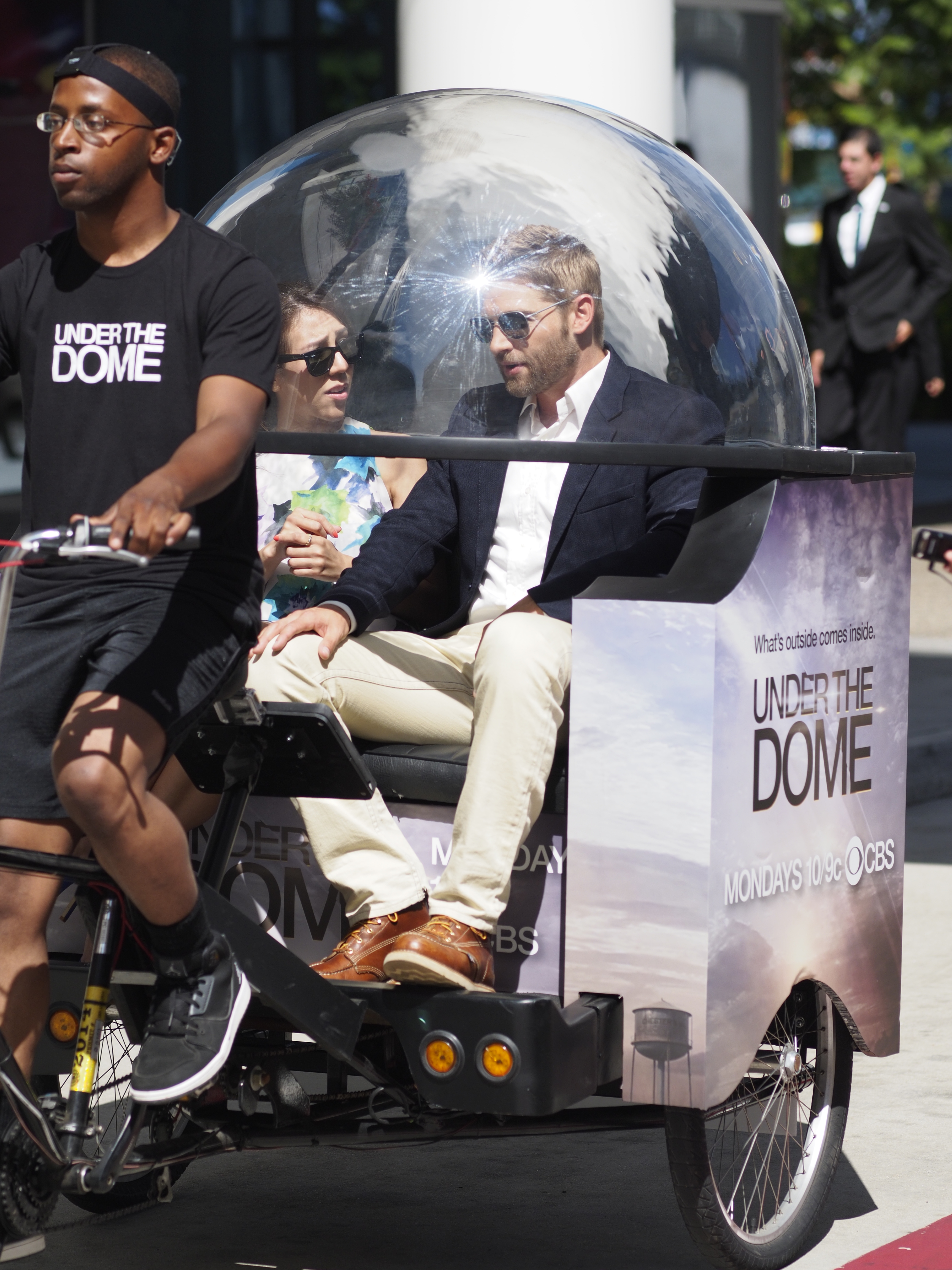 Mike Vogel Enjoys the Ride