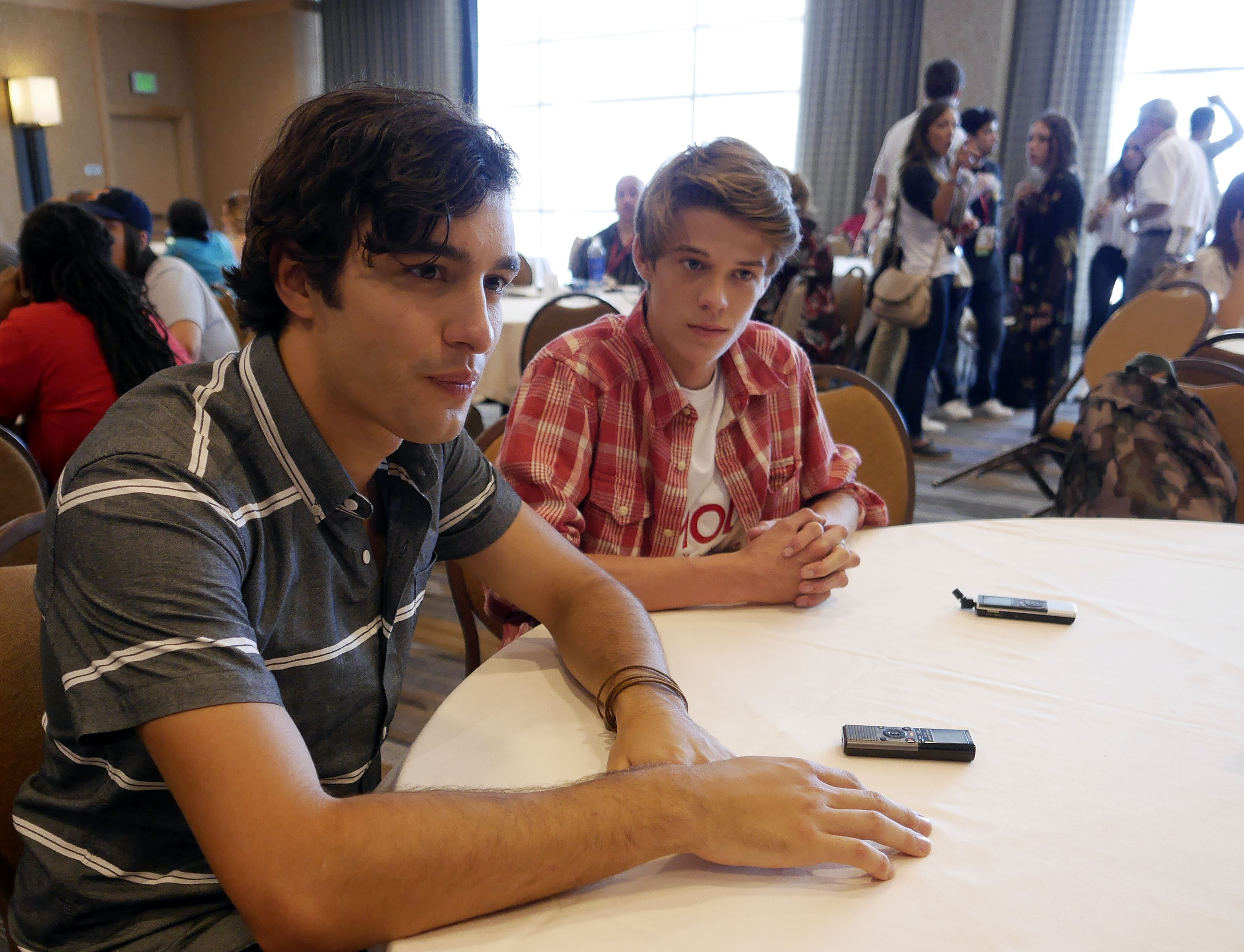 Alex Koch and Colin Ford Chat with the Press