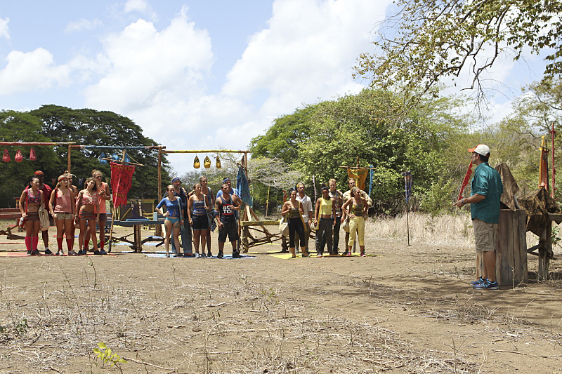 Jeff Probst addresses the tribes