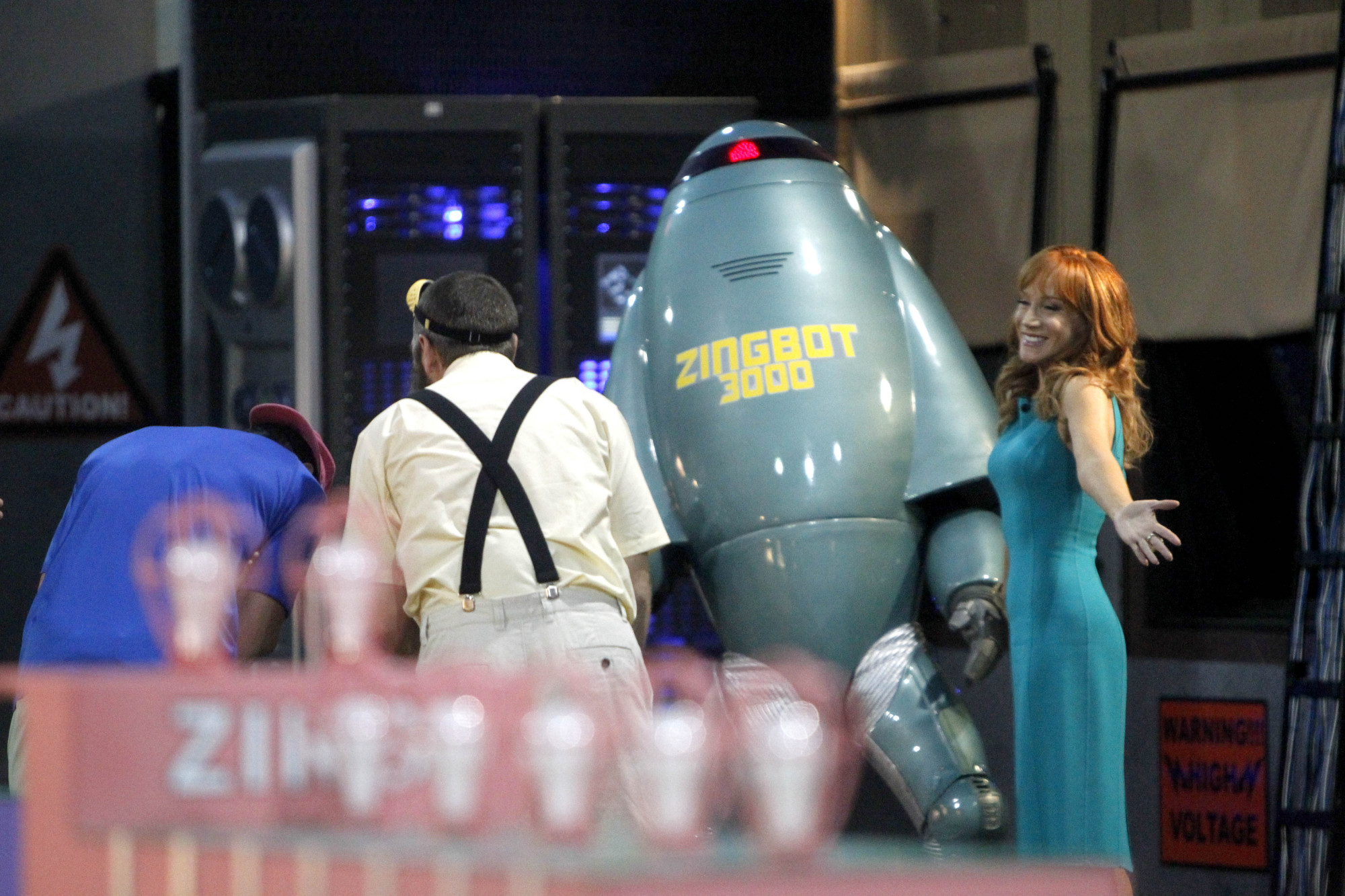 Zingbot and Kathy Griffin