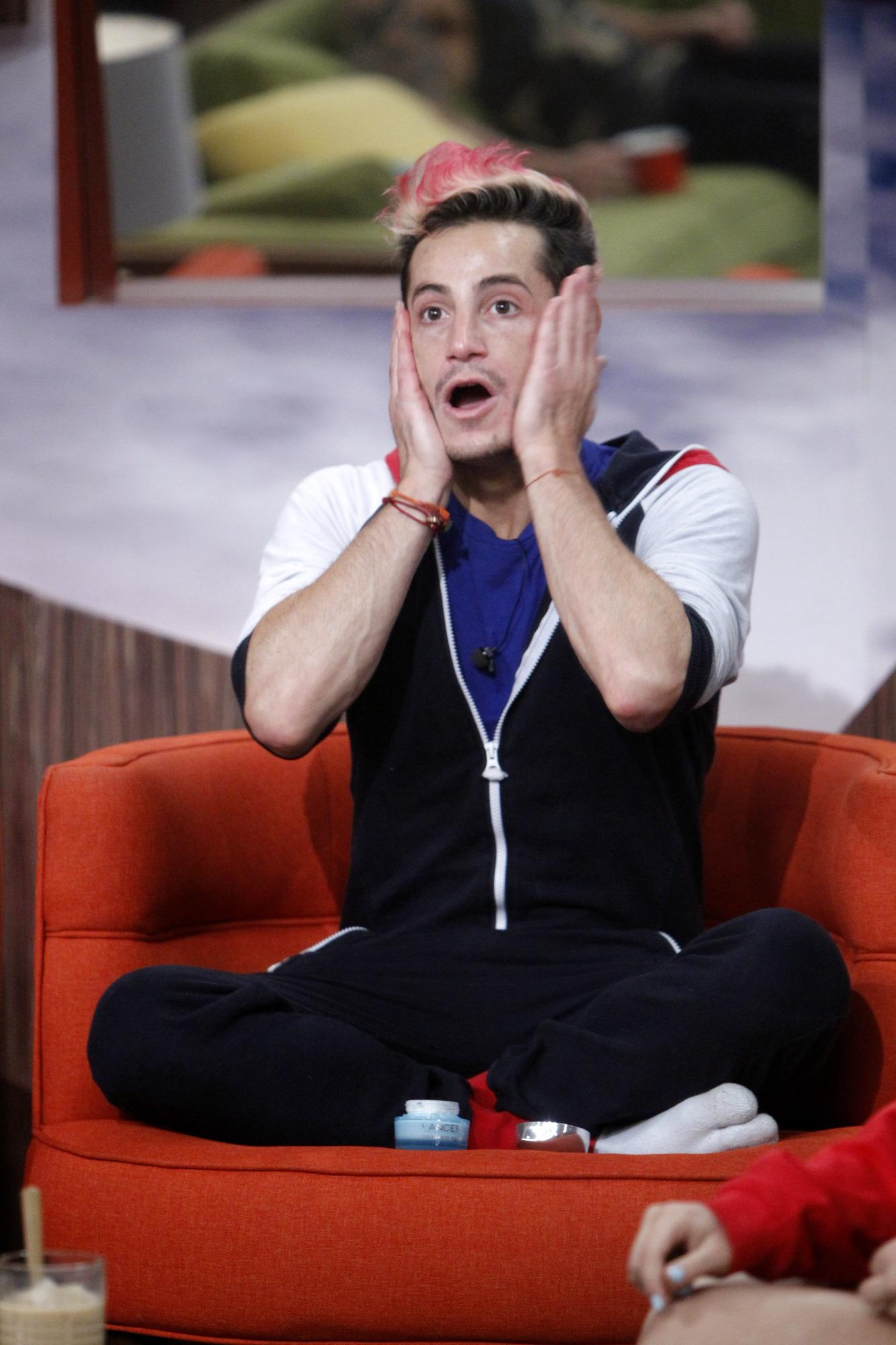 Frankie is shocked
