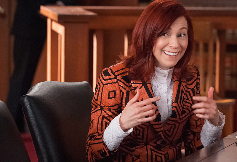 2. Always fun to have Carrie Preston as Elsbeth on the show!!