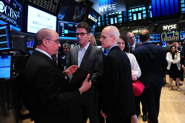 Tim Daly and Zeljko Ivanek Learning About the NYSE