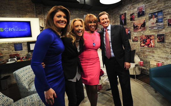 Téa Leoni Joins the CBS This Morning Hosts in the Green Room