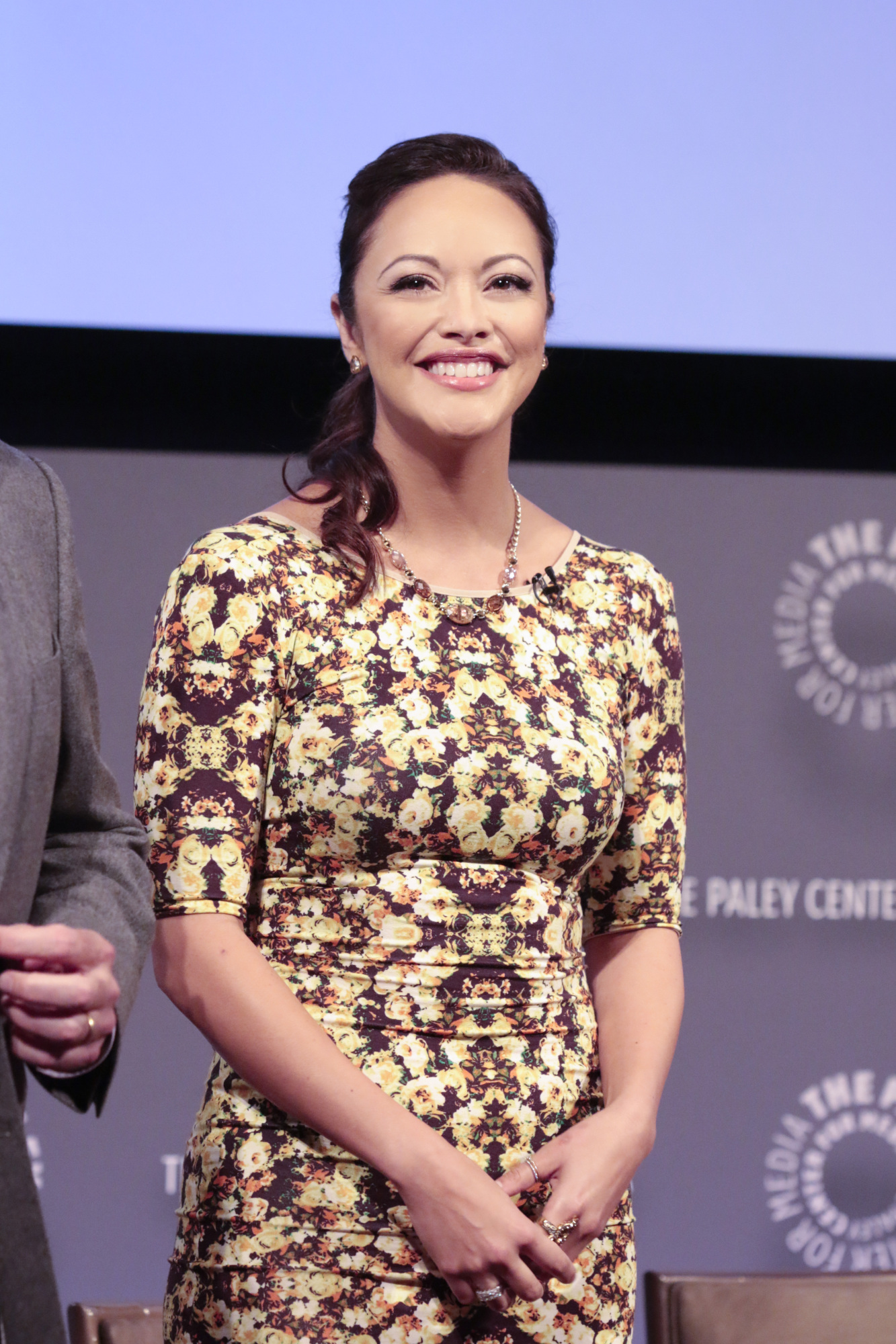 14. You can see Marisa Ramirez is genuinely excited to be on stage at the Paley Center.