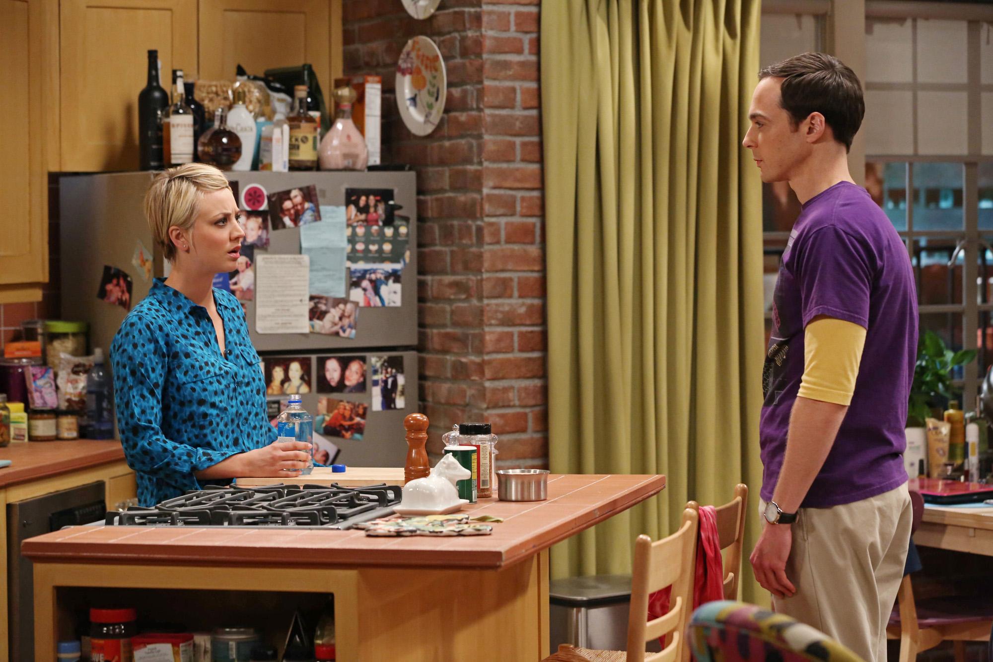 Penny and Sheldon talk