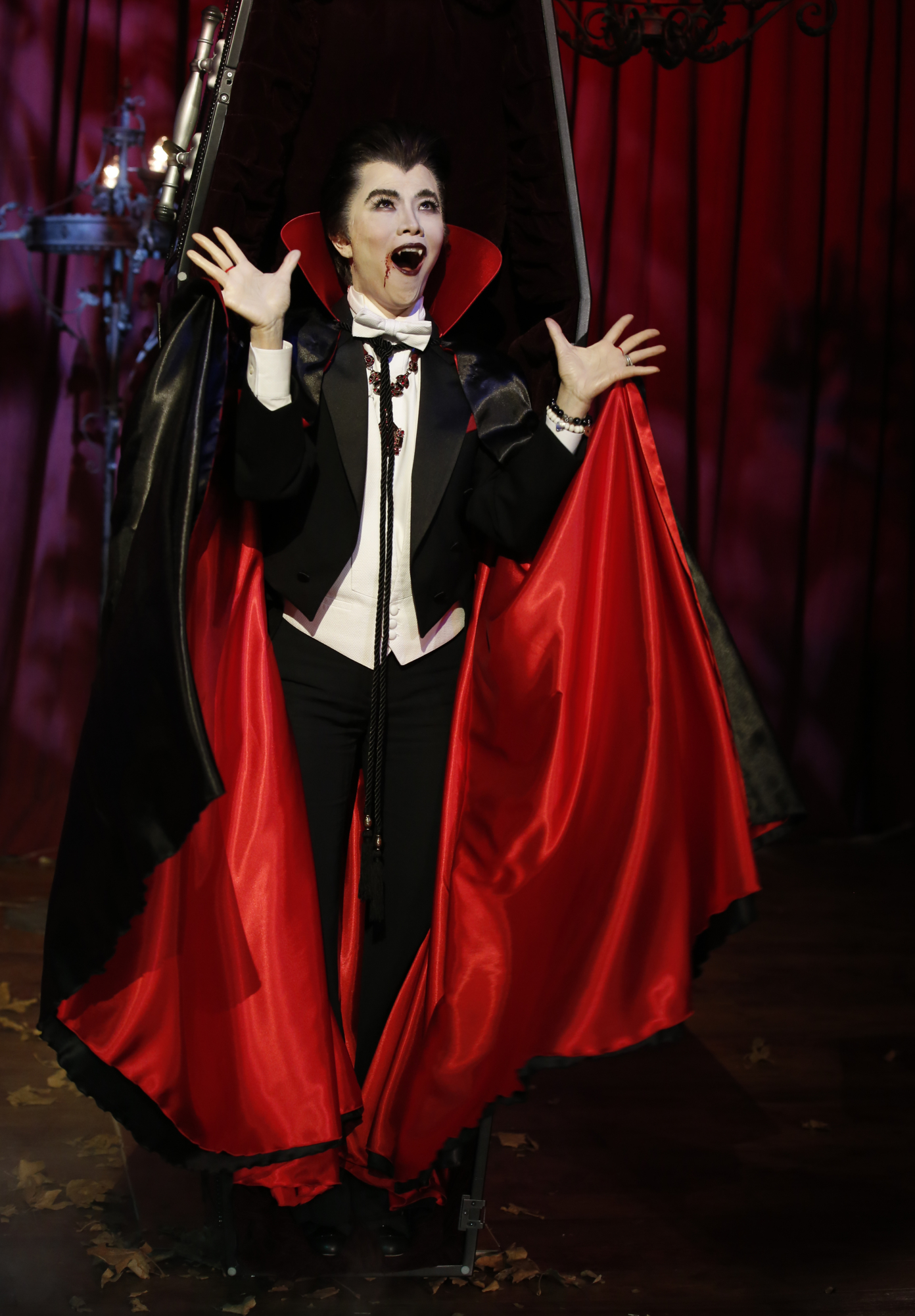 10. She pulls off a killer Dracula.
