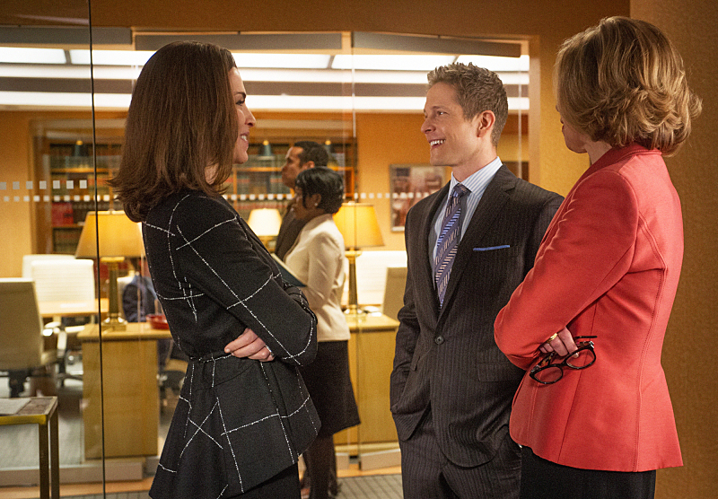 Diane and Cary handle a case without Alicia.