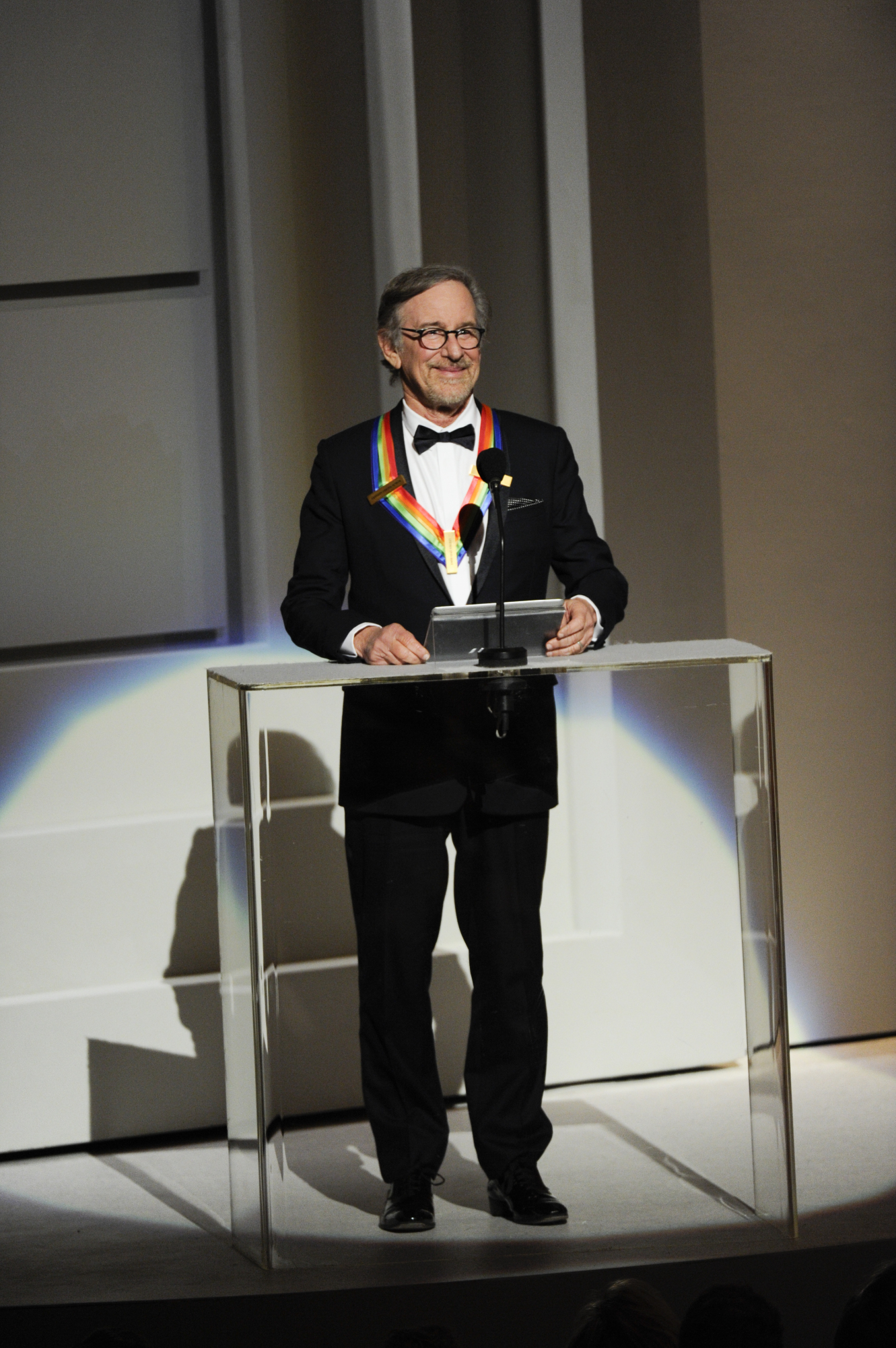 Steven Spielberg Speaks at the 37th Annual Kennedy Center Honors