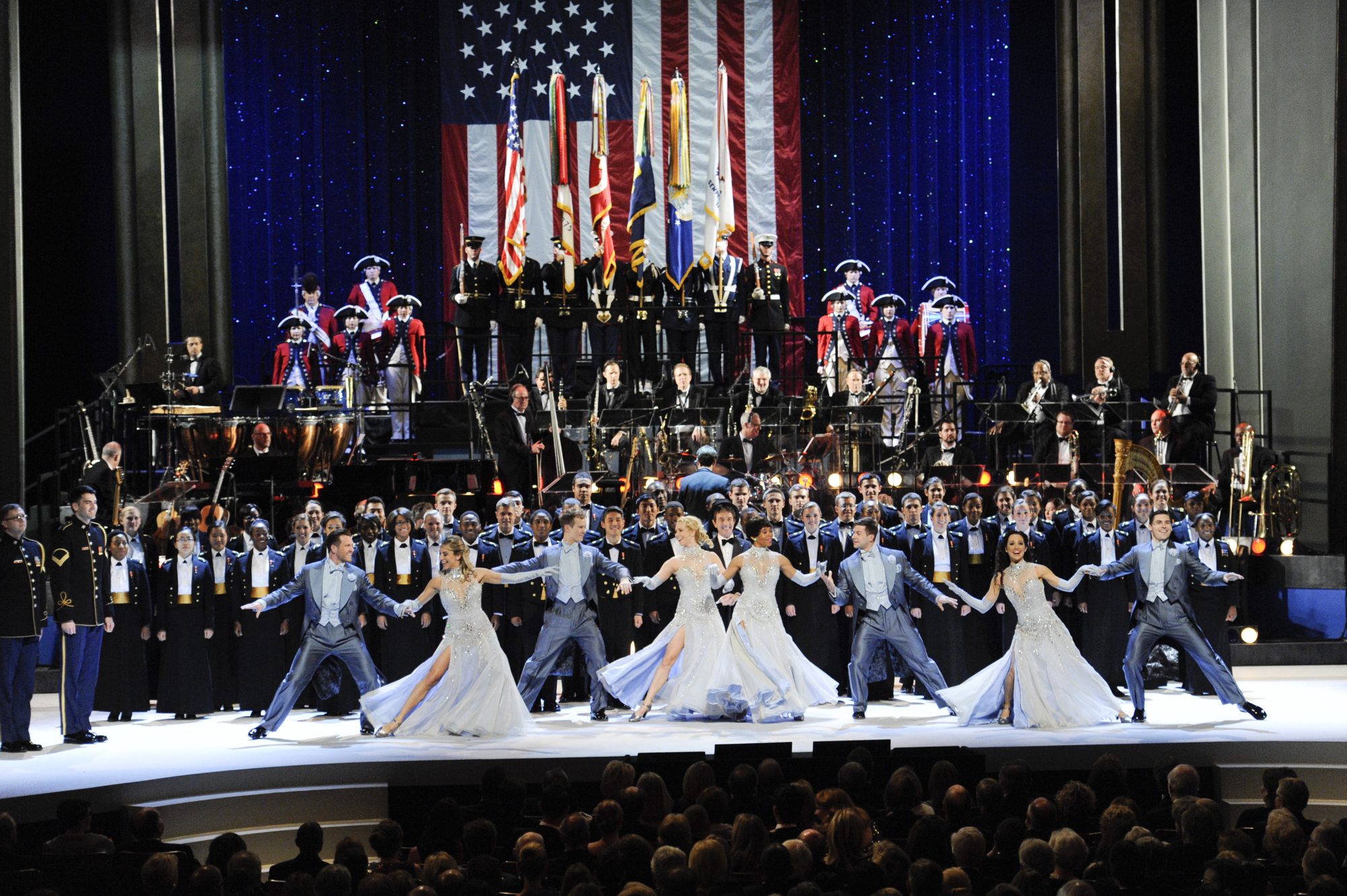 U.S. Army Chorus, the U.S. Army Color Guard, the U.S. Naval Academy Gospel Choir, the Old Guard Fife and Drum Corps and the United States Air Force Band's Ceremonial Brass
