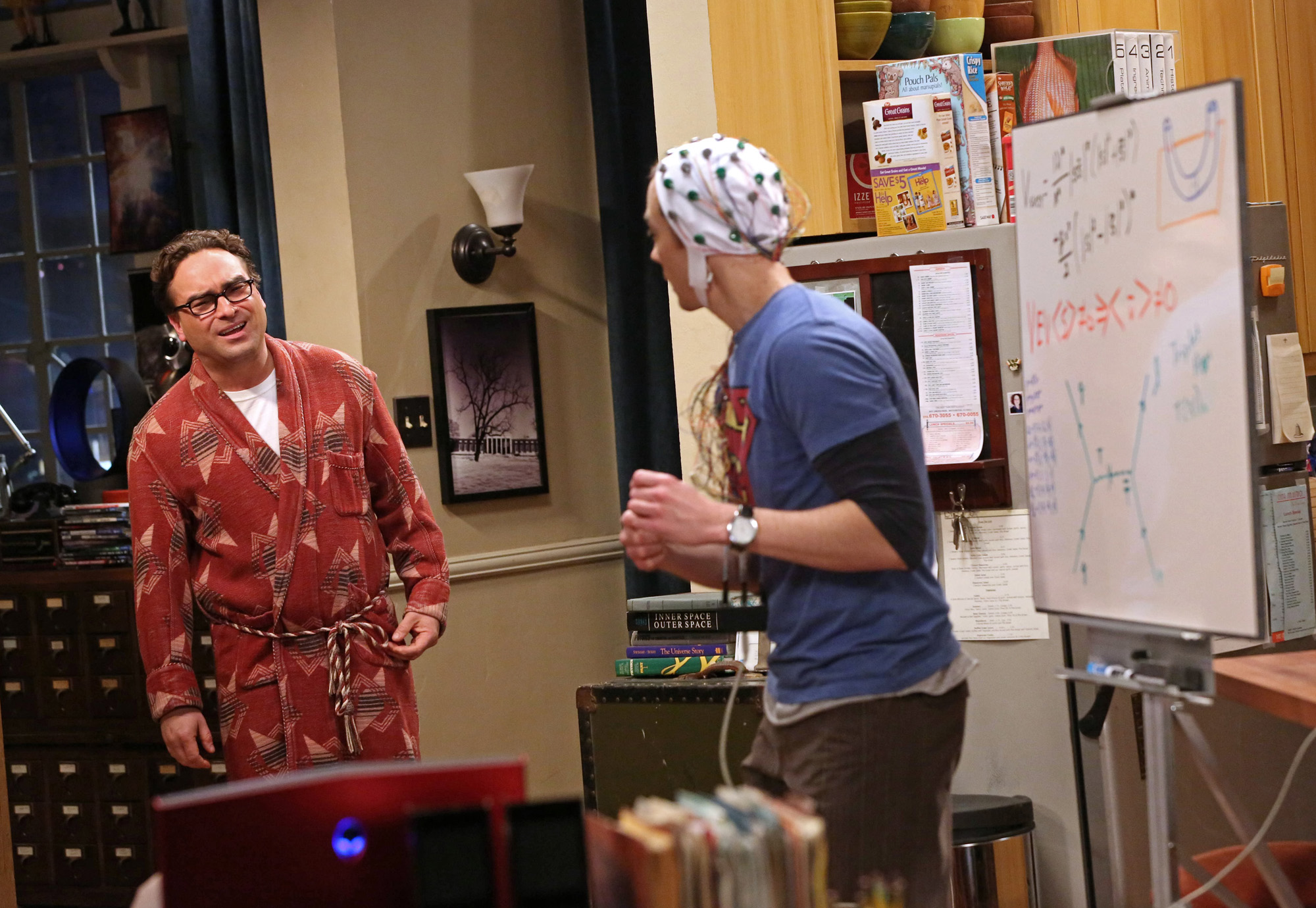 Leonard asks Sheldon what he's up to