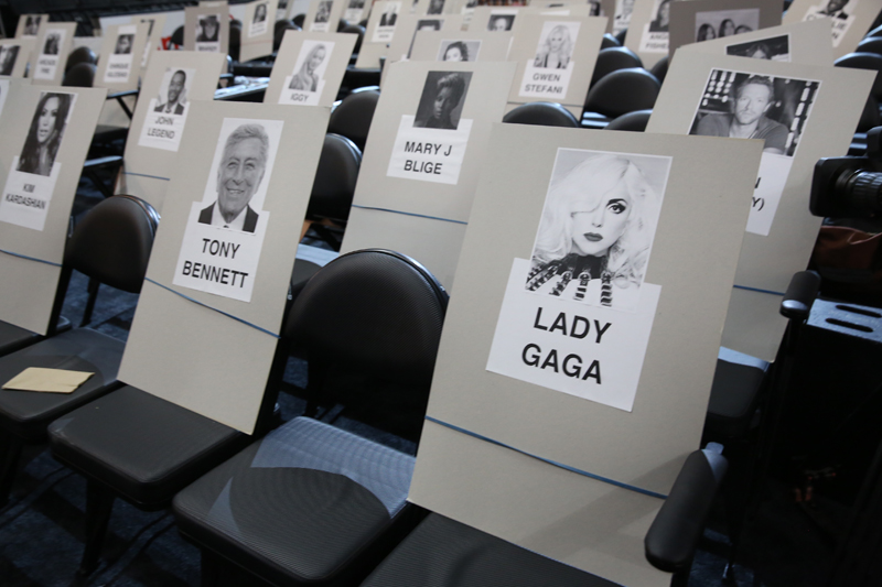 Lady Gaga and Tony Bennett will perform together AND sit together.