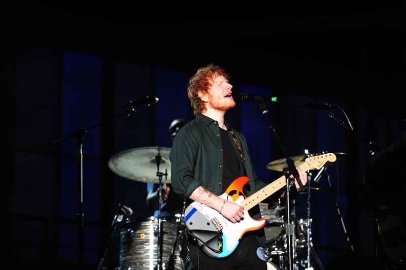 Ed Sheeran Rehearses