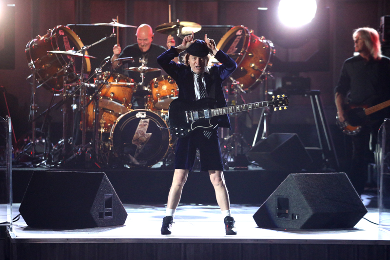 AC/DC Opens The Show