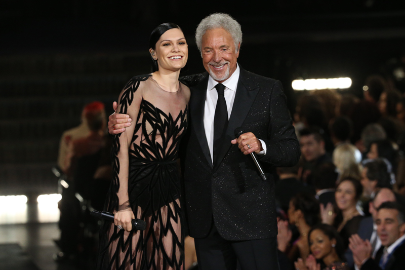 Jessie J and Tom Jones perform