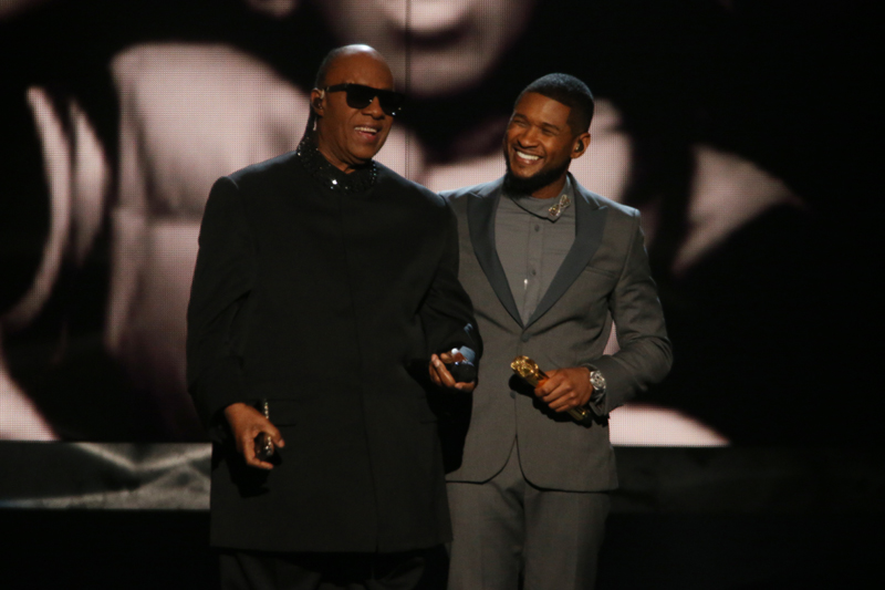 Stevie Wonder and Usher