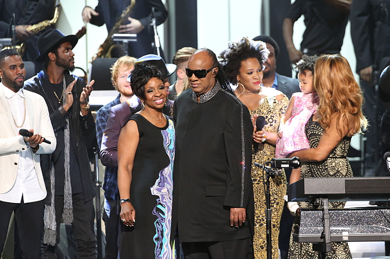 Jason Derulo, Gary Clark, Jr., Ed Sheeran, Gladys Knight, Stevie Wonder, India.Arie, and Aisha Morris