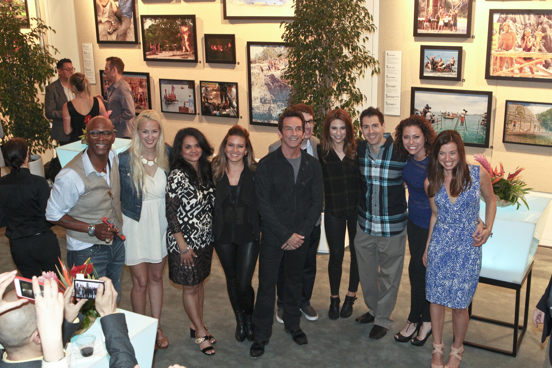 Nine former castaways and Jeff Probst