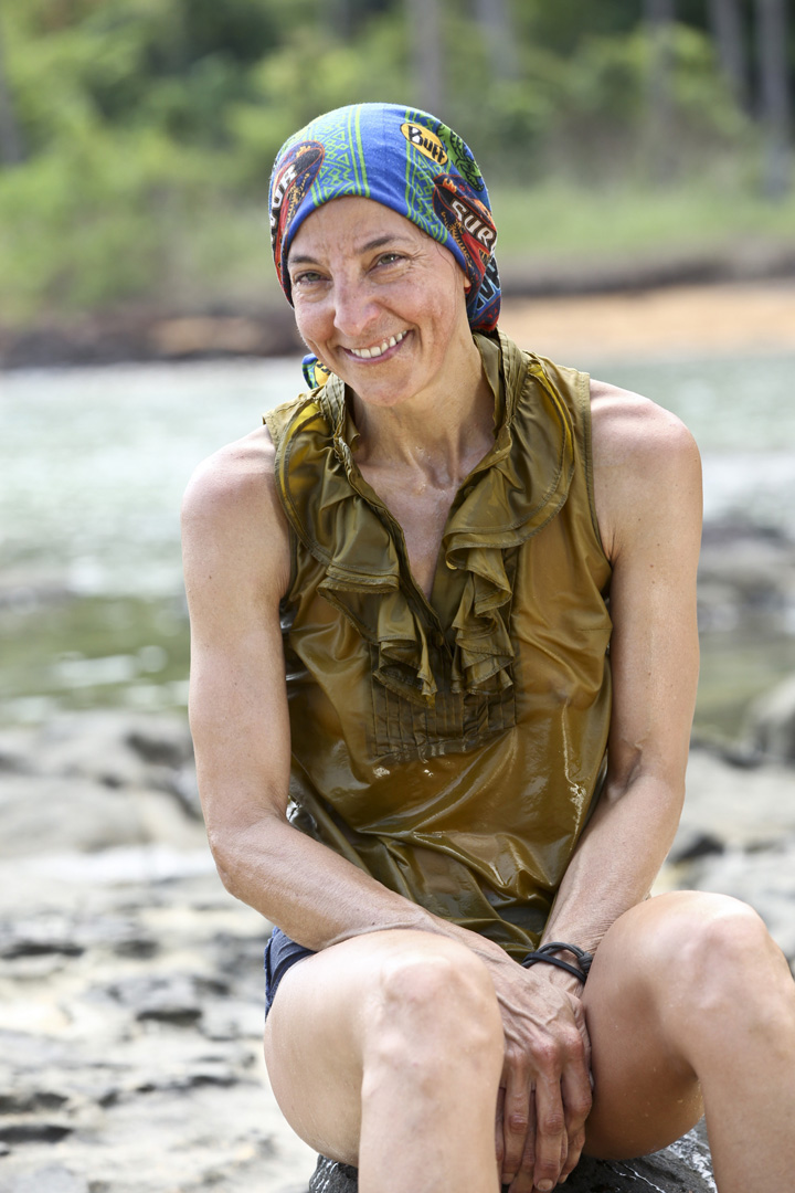 There's no doubt Debbie is excited for her Survivor adventure.