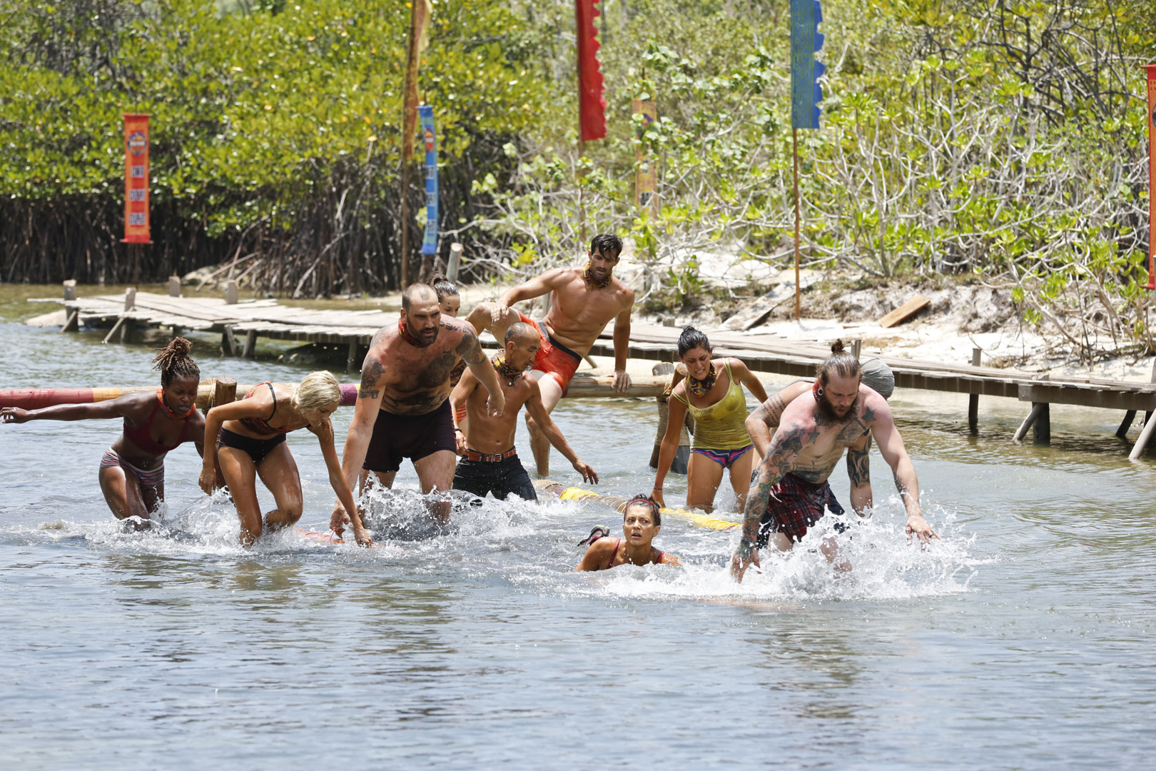 Combating the water proves to be difficult as these castaways compete for Immunity and Reward.