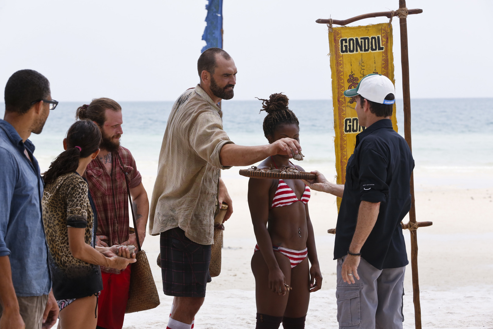 Scot picks a new buff during the much-anticipated Survivor tribe swap.