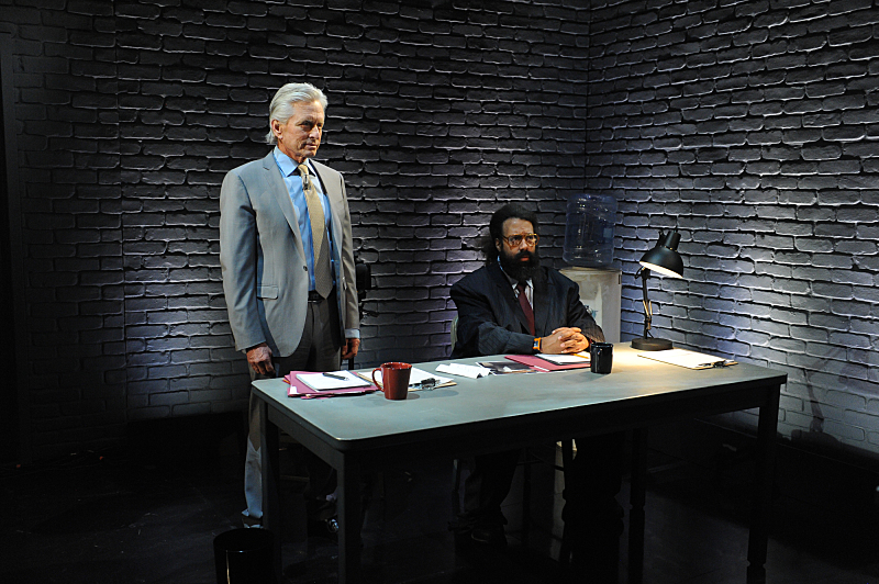 Michael Douglas and Reggie Watts try to process what they're seeing.