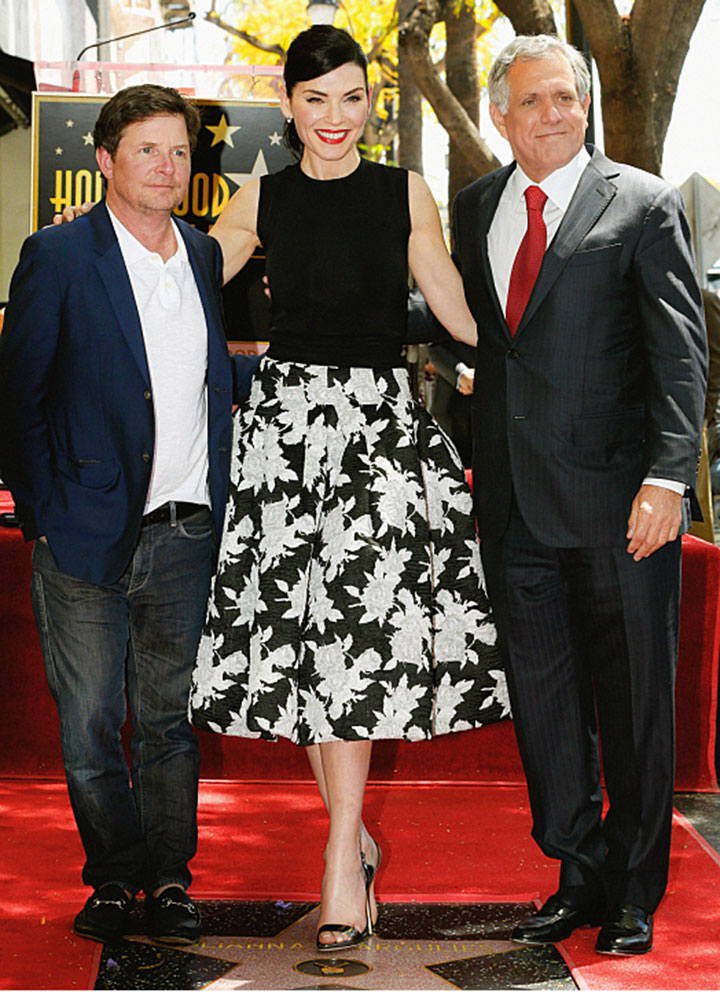 Julianna was joined by Michael J. Fox and CBS CEO Leslie Moonves.