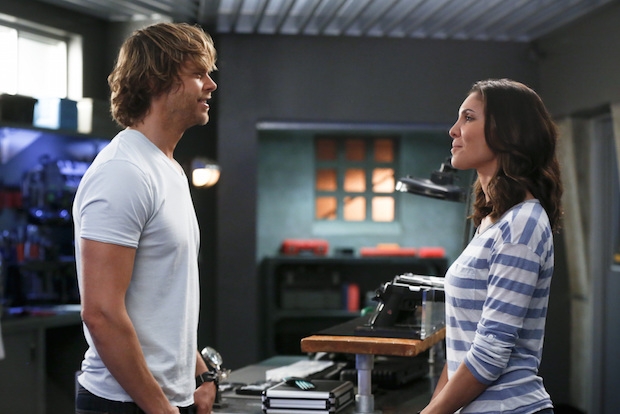 Eric Christian Olsen as Marty Deeks and Daniela Ruah as Kensi Blye