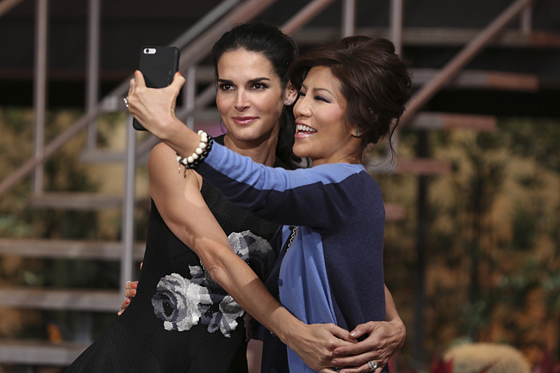 Angie Harmon and Julie Chen took selfies