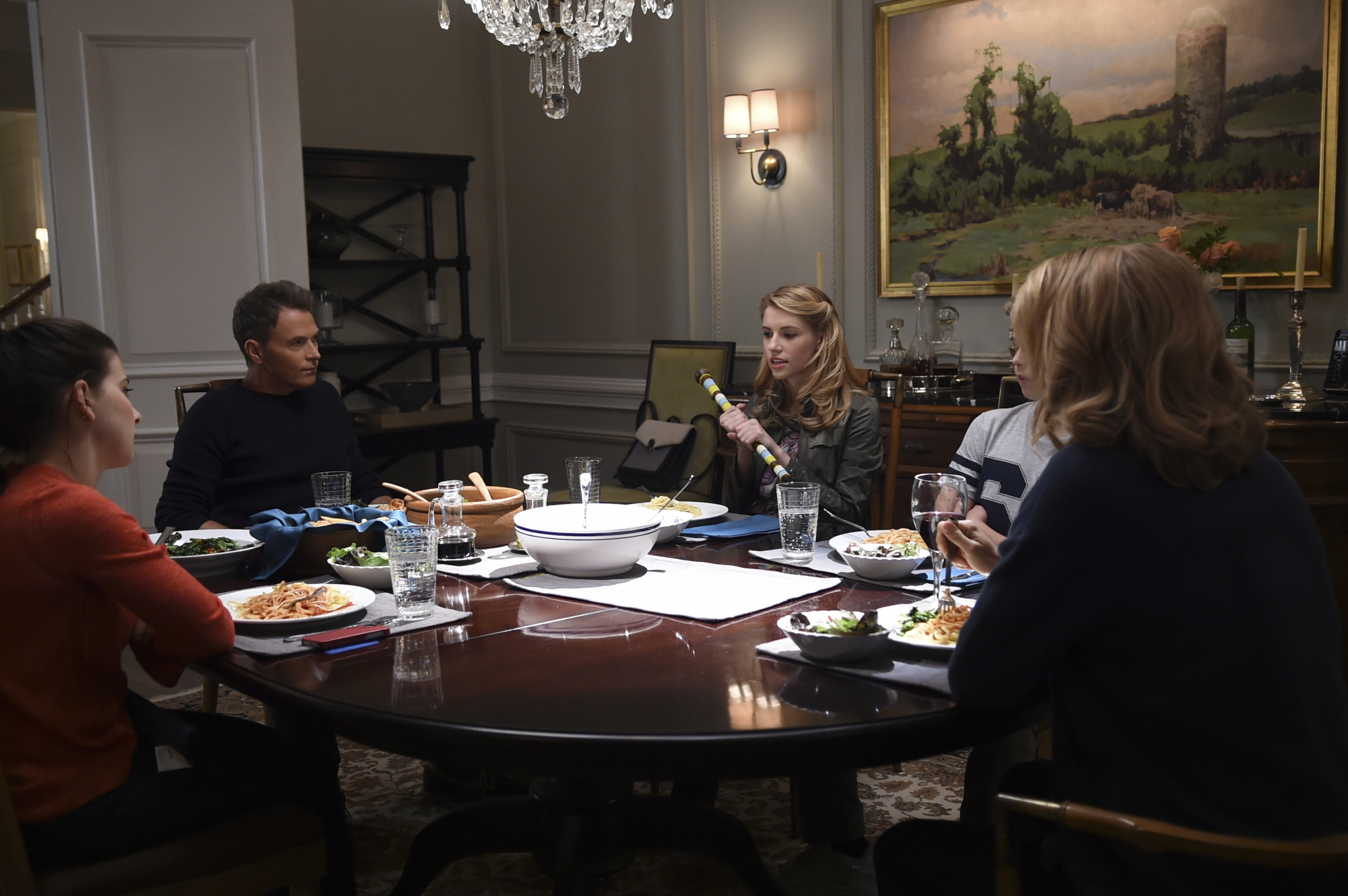Kathrine Herzer as Alison McCord, Tim Daly as Henry McCord, Wallis Currie-Wood as Stephanie