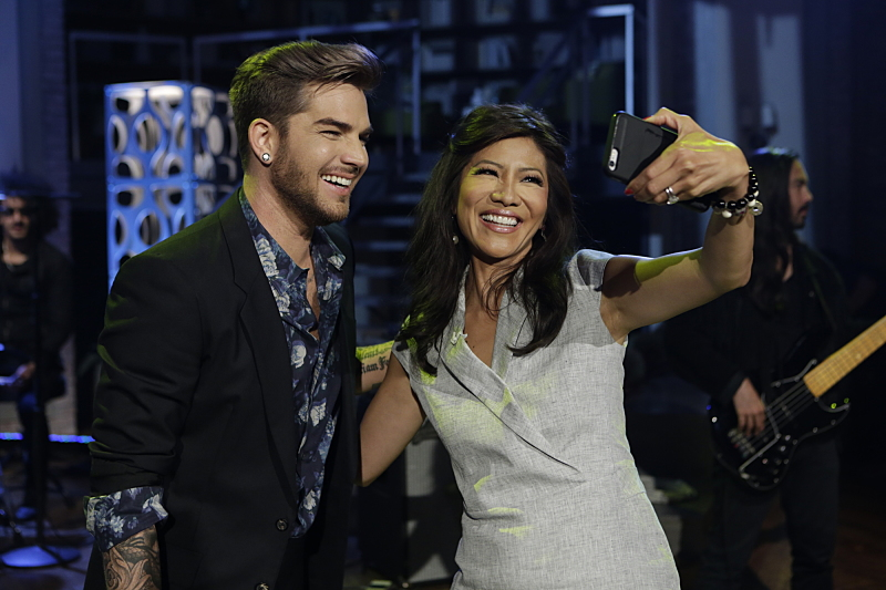 Adam Lambert and Julie Chen