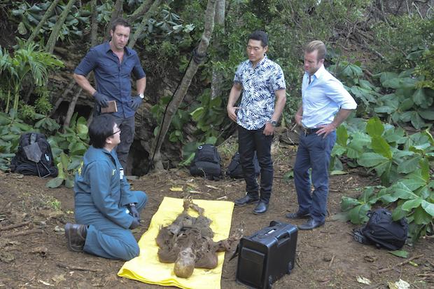 Masi Oka as Dr. Max Bergman, Alex O'Loughlin as Steve McGarrett, Daniel Dae Kim as Chin Ho Kelly, and Scott Caan as Danny
