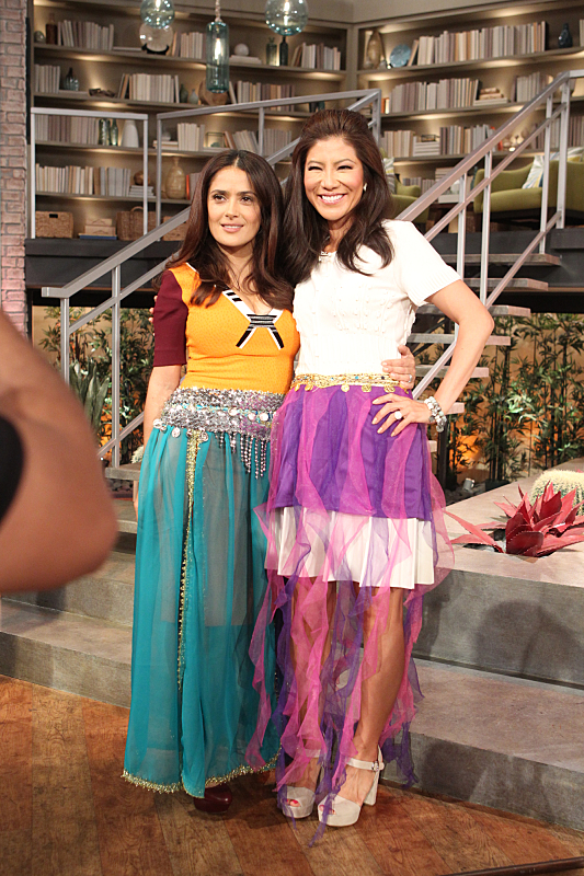 Salma Hayek and Julie Chen