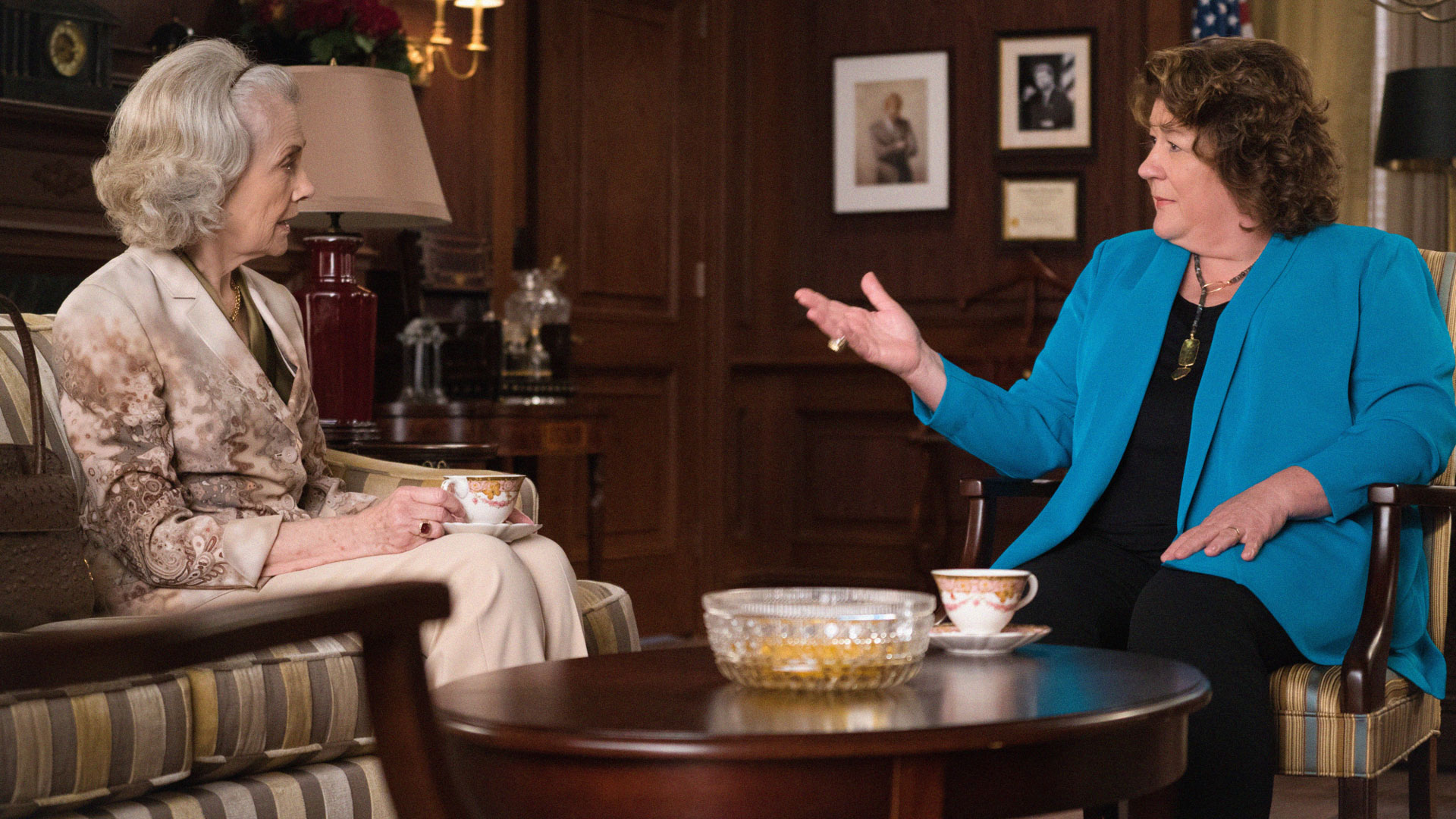 Mary Beth Peil as Jackie Florrick and Margo Martindale as Ruth Eastman