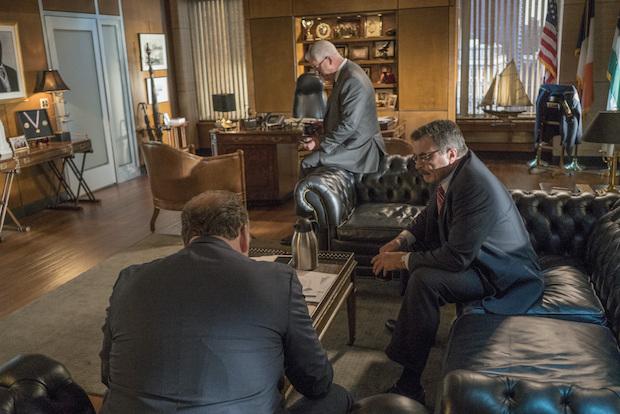 Robert Clohessy as Lt. Gormley, Gregory Jbara as DCPI Garrett Moore, and Tom Selleck as Frank Reagan.