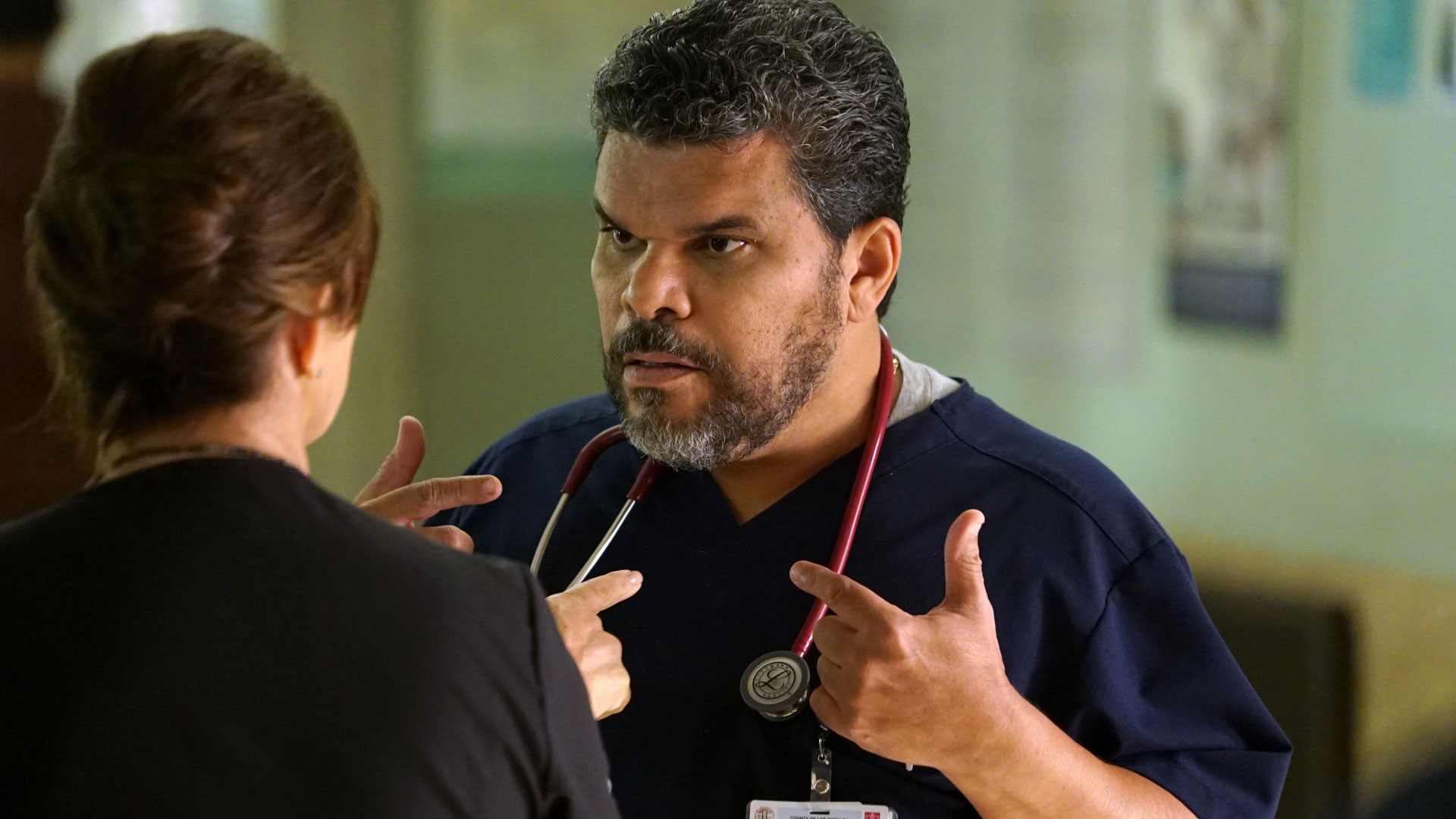 Marcia Gay Harden as Dr. Leanne Rorish and Luis Guzmán as Jesse Sallander