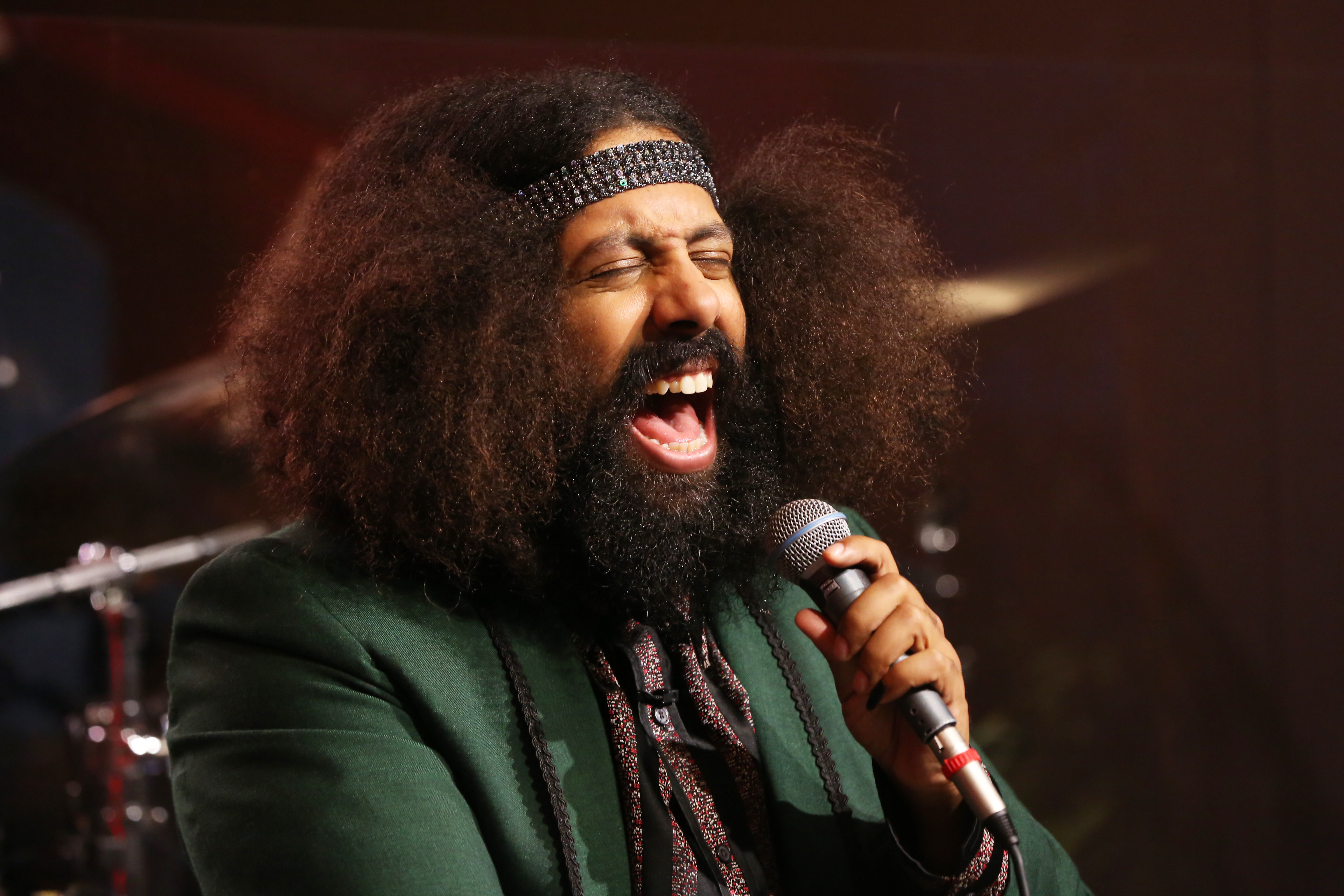 Reggie Watts thought it was a Great Gatsby theme party