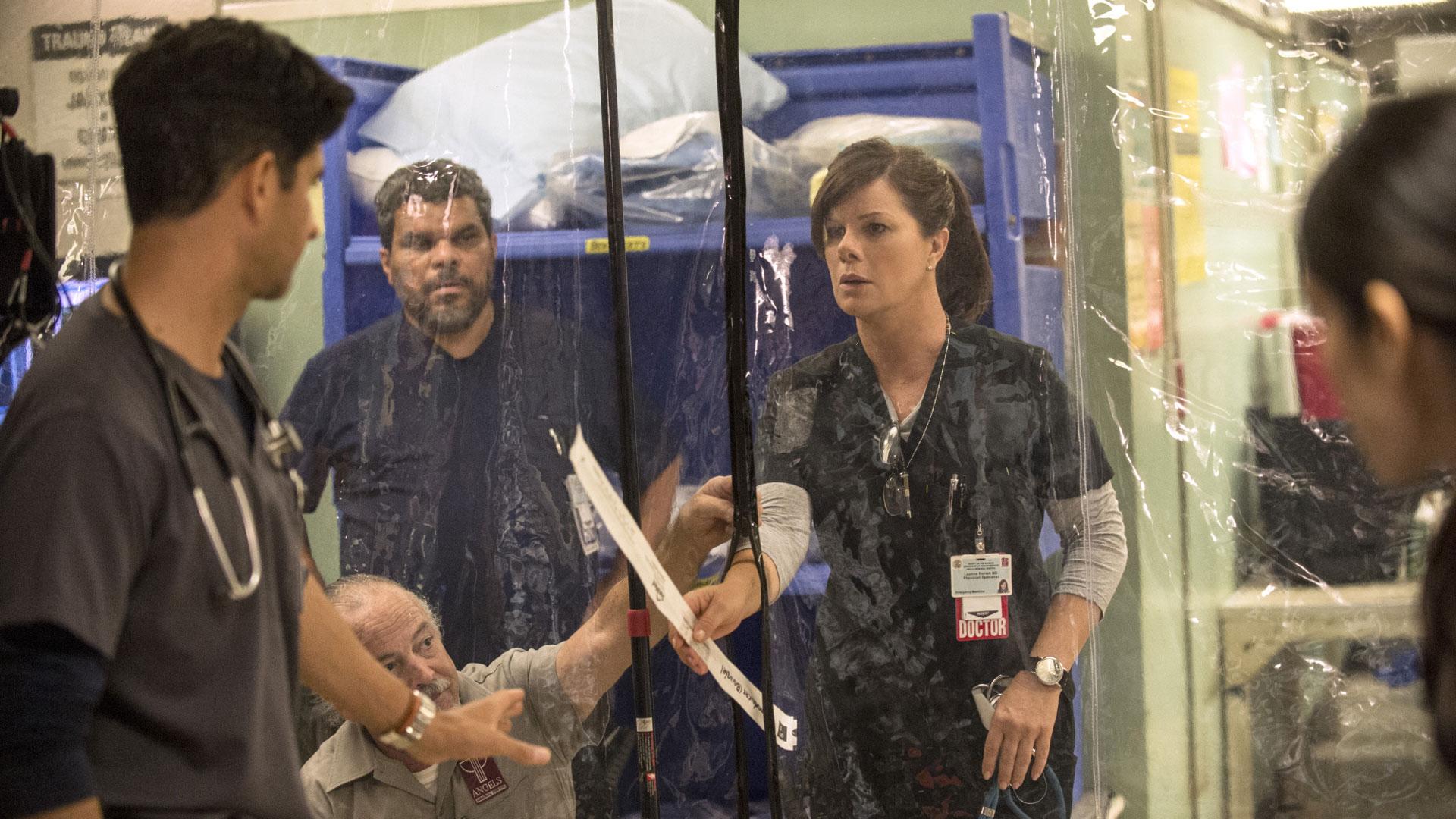 Raza Jaffrey as Dr. Neal Hudson, Luis Guzmán as Jesse Sallander, and Marcia Gay Harden as Dr. Leanne Rorish