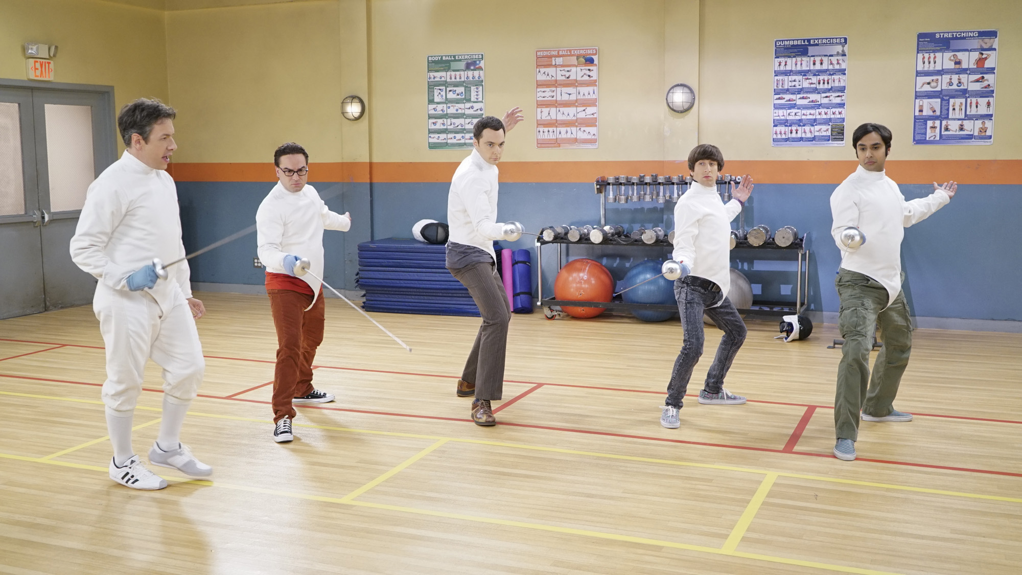 Fencing isn't a joke for these sword-wielding n00bs